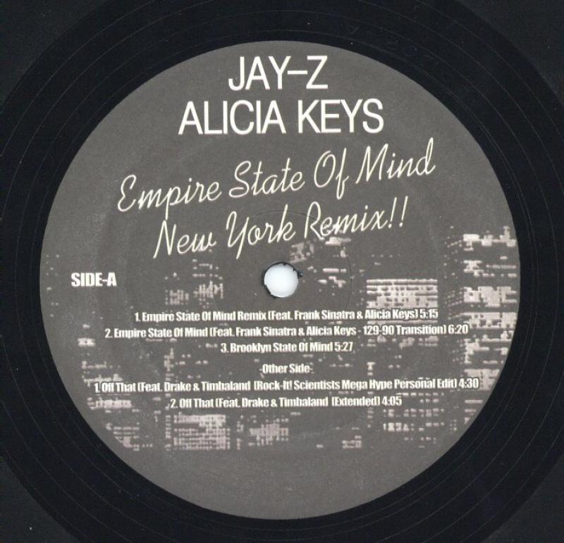 JAY-Z & ALICIA KEYS/EMPIRE STATE OF MIND (NEW YORK REMIX)の12インチレコード通販・販売ならサウンドファインダー