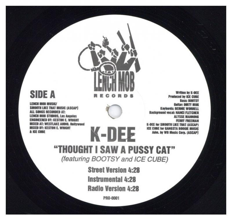 K-DEE feat Ice Cube, Bootsy Collins/MAKE THE MUSIC / THOUGHT I SAW A PUSSY CATの12インチレコード通販・販売ならサウンドファインダー