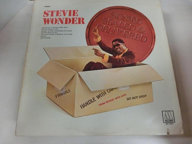 Stevie Wonder/Signed Sealed & DeliveredのLPレコード通販・販売ならサウンドファインダー