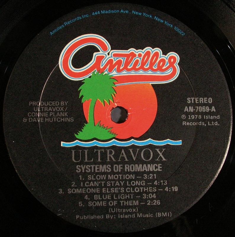Ultravox /Systems Of Romance レコード通販のサウンドファインダー