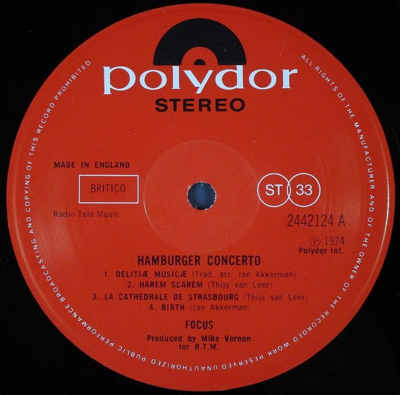Focus /Hamburger Concerto レコ...