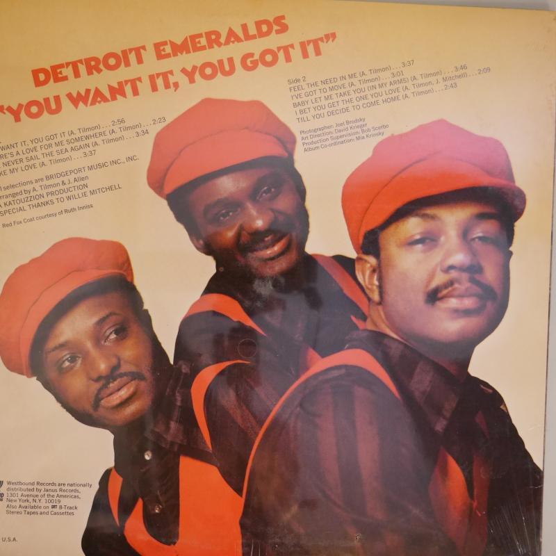 detroit emeralds you want it you got it 未開封 レコード通販の