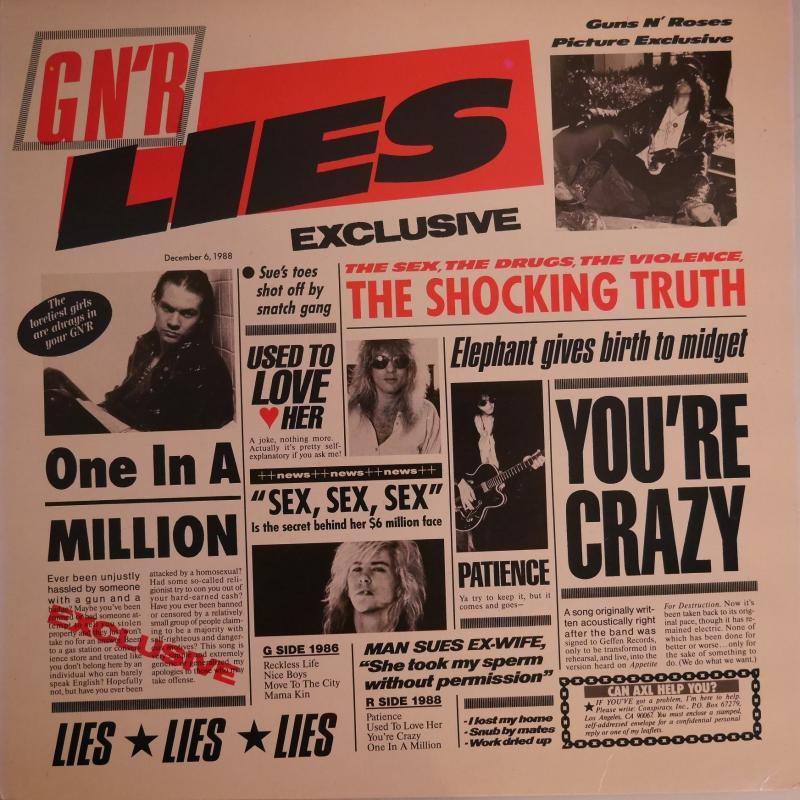 Guns N' Roses/G N' R LiesのLPレコード通販・販売ならサウンドファインダー