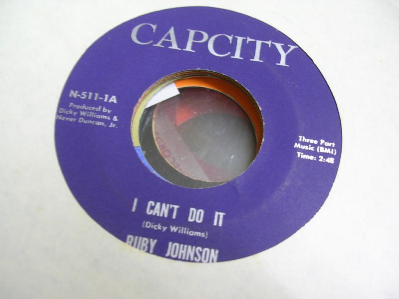 RUBY JOHNSON - I CAN'T DO IT - 45T x 1