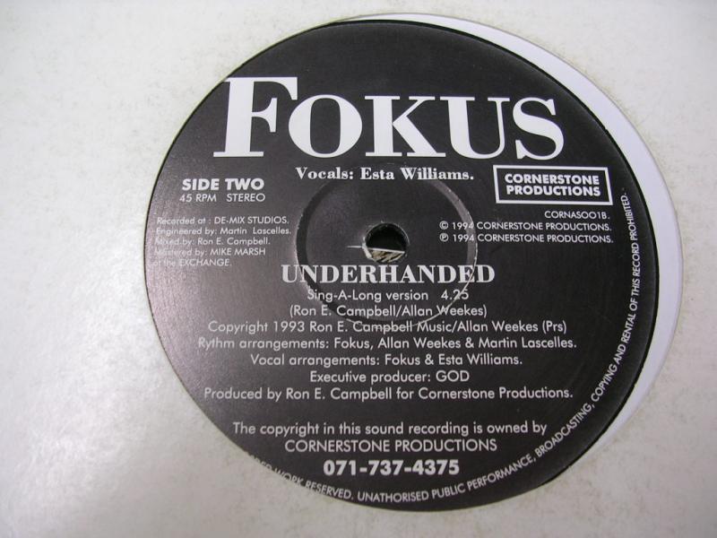 FOKUS/UNDERHANDEDの12inch