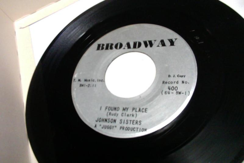 johnson sisters/i found my place/you don't want me any moreのシングル盤 vinyl 7inch通販・販売ならサウンドファインダー