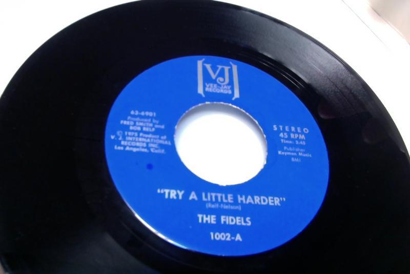 Fidels/Try A Little Harder/same(inst)のシングル盤 vinyl 7inch通販・販売ならサウンドファインダー