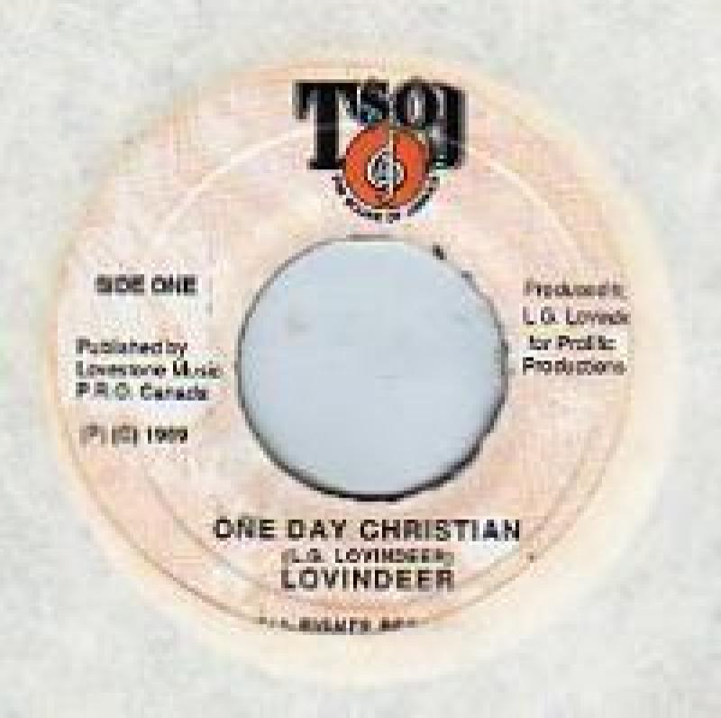 LOVINDEER - ONE DAY CHRISTIAN - 7inch x 1