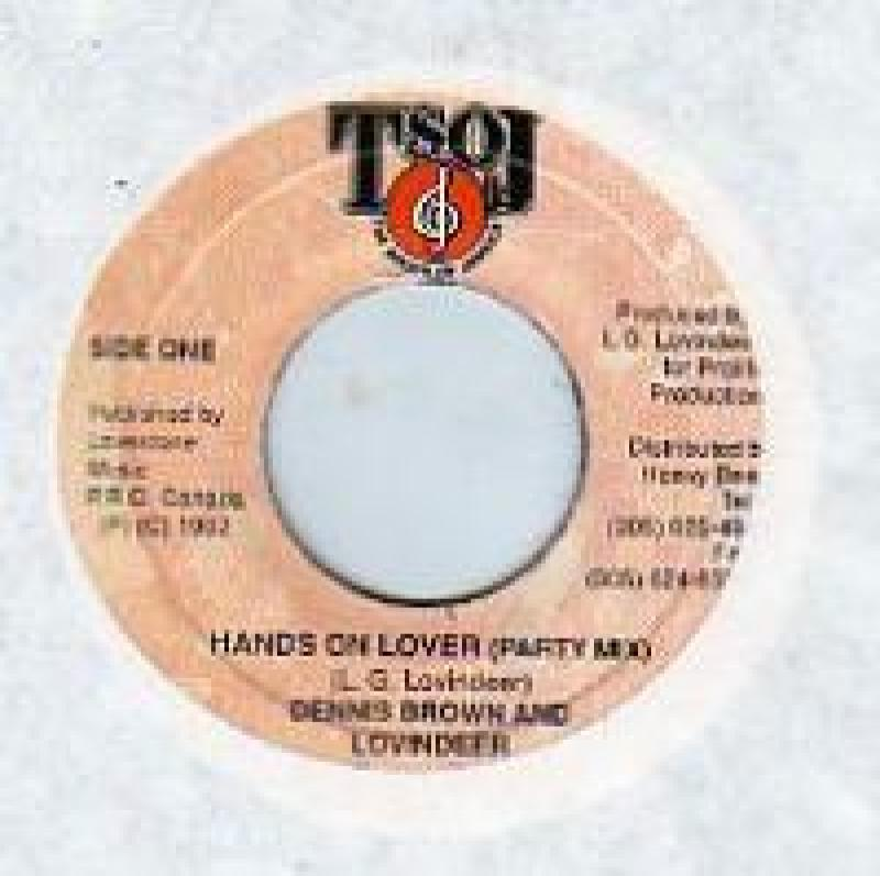DENNIS BROWN & LOVINDEER - HANDS ON LOVER (PARTY MIX) - 7inch x 1