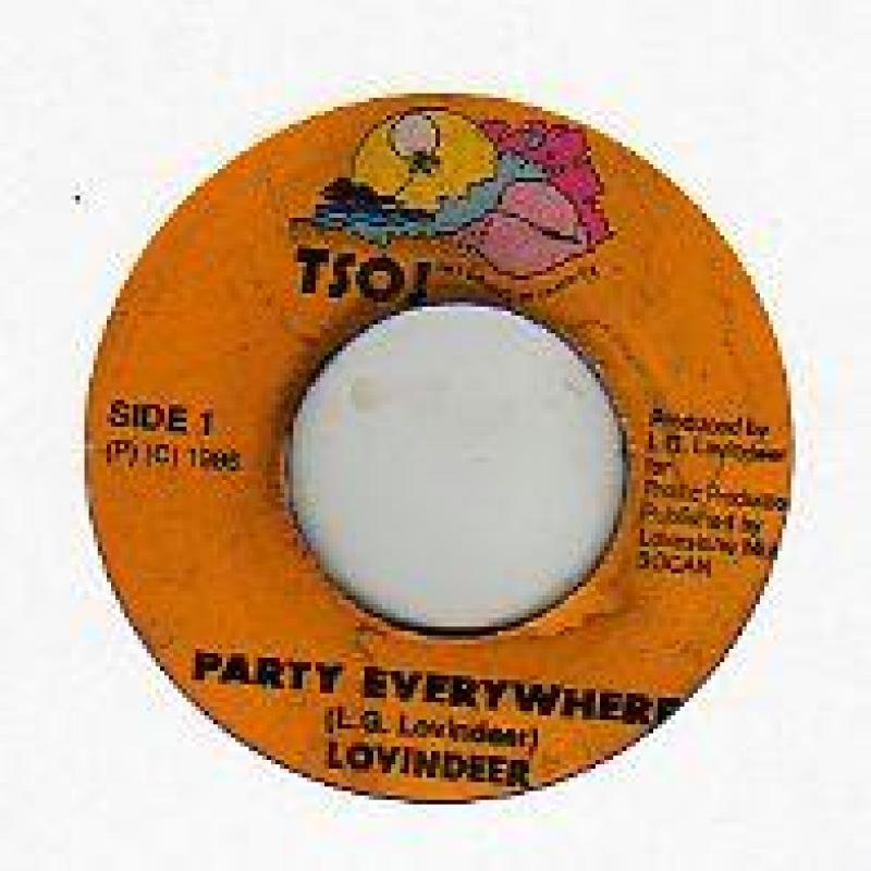 LOVINDEER - PARTY EVERYWHERE - 7inch x 1