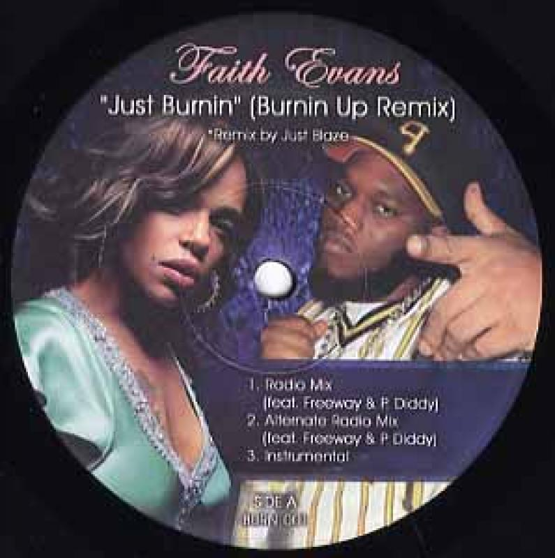 FAITH EVANS FEAT FREEWAY & P. DIDDY - BURNING UP / JUST BURNIN (WHITE) - 12''45回転