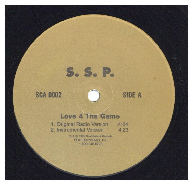 S.S.P./LOVE 4 THA GAMEの12インチレコード vinyl 12inch通販・販売ならサウンドファインダー