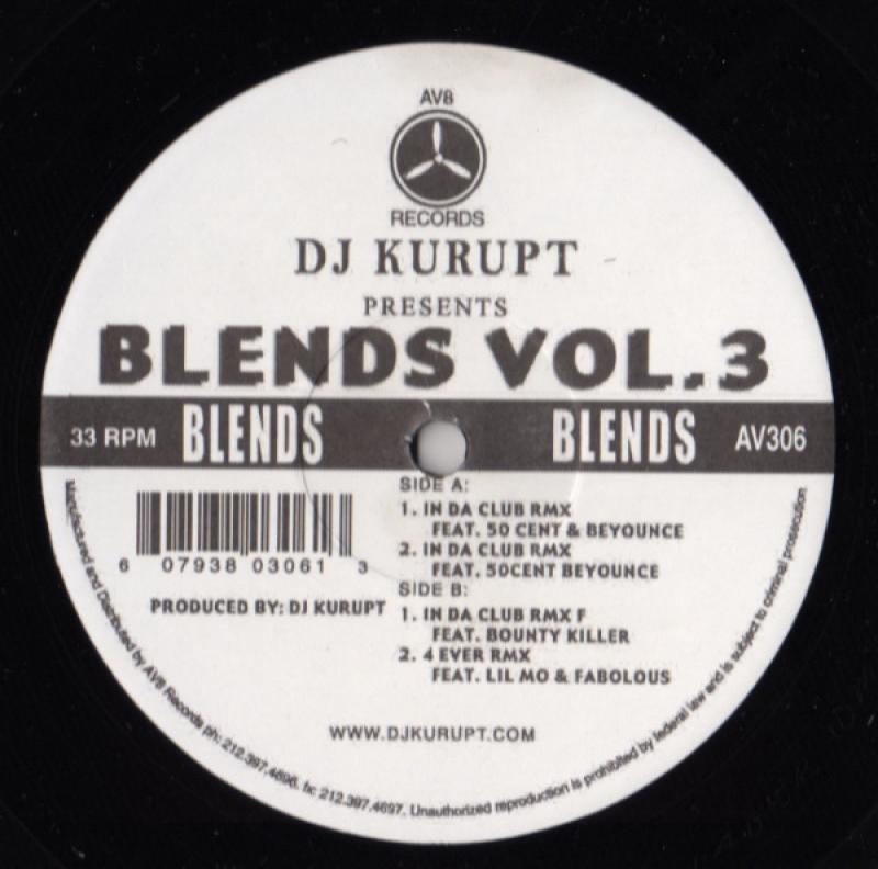 DJ KURUPT - Blends Vol.3 - 12 inch 45 rpm