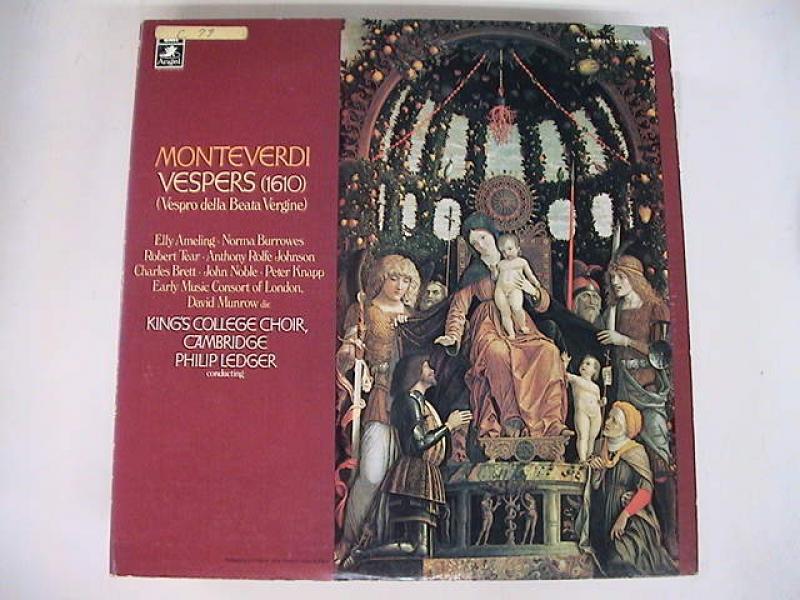 """モンテヴェルディ/聖母マリアの夕べの祈りのLPレコード通販・販売ならサウンドファインダー"""""""