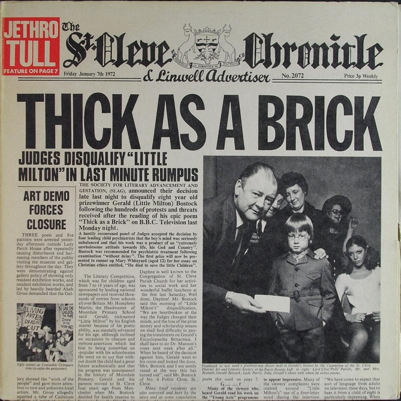 Page 3 - Album THICK AS A BRICK by JETHRO TULL