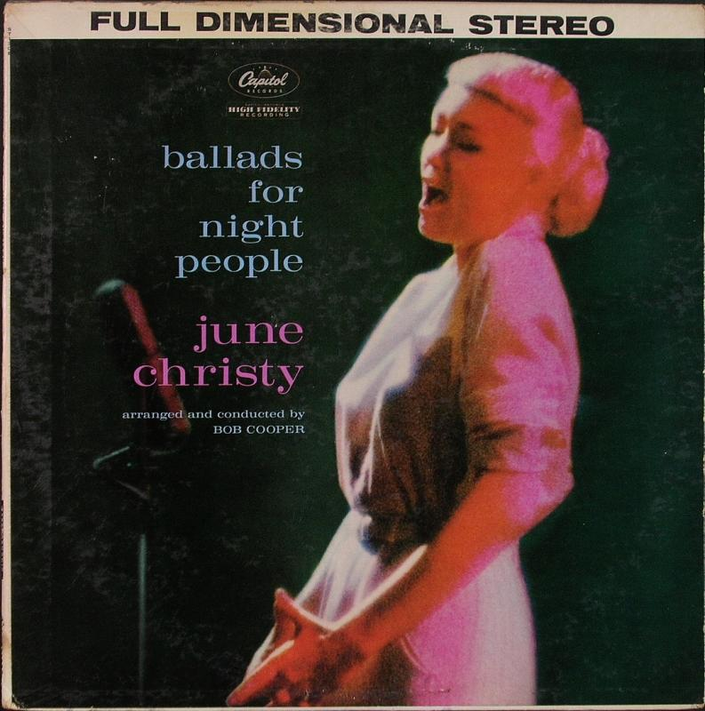 JUNE CHRISTY ジューン・クリスティ - Ballads For Night People - LP