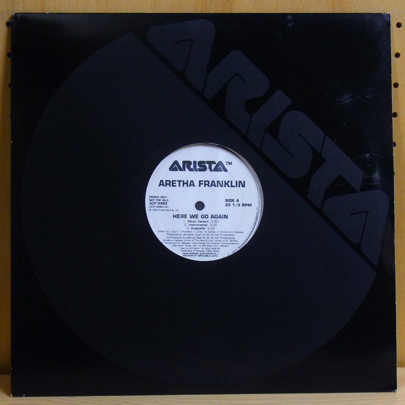 ARETHA FRANKLIN - HERE WE GO AGAIN - 12 inch 45 rpm