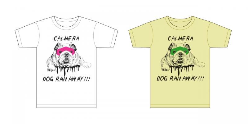 カルメラオフィシャルグッズ/【オーダーカラーTシャツ】犬、逃げた。Tシャツ-ver.